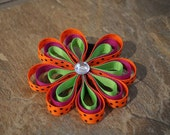 Halloween Triple Petal Daisy Ribbon Sculpture Bow