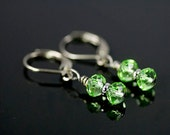 Dangling Earrings Crystal Green