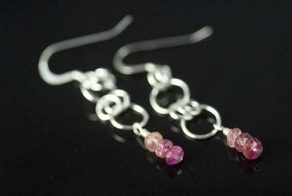 Tourmaline Beaded Dangling Earrings