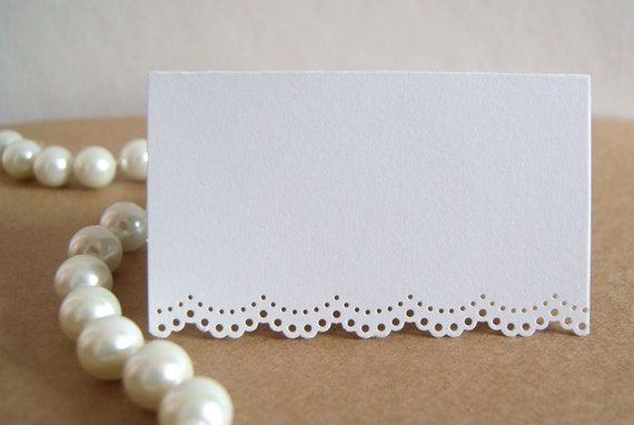 White Doily Lace Place Cards for Wedding/Event/Bridal-Baby Shower Set of 50