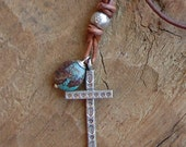 Thai Silver Cross Charm Necklace