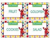 Sesame Street Food Labels- Custom Printable