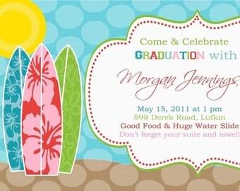 Beach Party Invitation, Beach Shower Invitation, Beach Birthday Invitation, Pool Party Invitation, Pool Birthday Invitation,, Pool Party