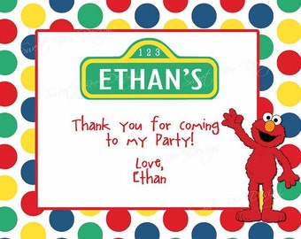 Sesame Street Thank You Note- Custom Printable