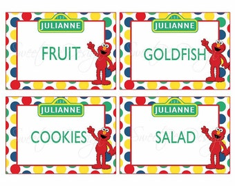 Sesame Street Food Labels- Custom Printable