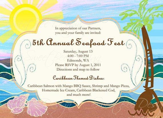 Beach Theme Birthday Invitations for perfect invitation example