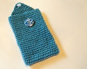 Upcycled -- Blue Kindle Fire Cozy