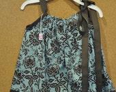 Blue & Brown Boutique Pillowcase Dress 0-12M