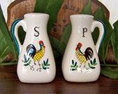Vintage Rooster Salt and Pepper Shakers
