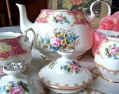 Royal Albert Tea Set Lady Carlyle Pattern 1944