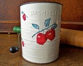 Vintage Bromwells Apple Flour Sifter