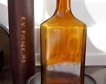Antique Bottle Dandruff Remover Scalp Tonic JR Watkins Co Amber Bottle Old Medicine Bottle Honey Amber Early 1900s