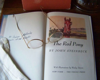 Vintage John Steinbeck's The Red Pony 1989 Steinbeck Novels Horse Lover