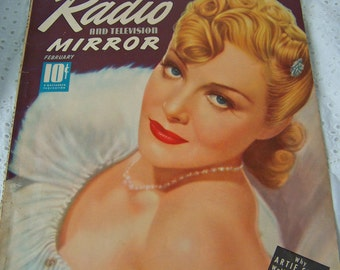 Vintage Magazine Radio Mirror 1940 Classic Advertising Vintage Ads Radio and Television Movie Stars Cigarette Ads