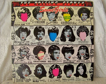 Vintage Rolling Stones Some Girls Vinyl Record Album Mick Jagger Rock and Roll Band Vintage 1970s