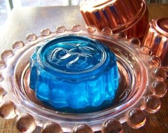 Vintage Copper Tone Jello Molds Set of Six Acorn Pineapple Jello Mould Copper Tone Molds Kitchen Decor 1960s