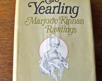 Vintage Book The Yearling by Marjorie Kinnan Rawlings Boy and Fawn ca.1966
