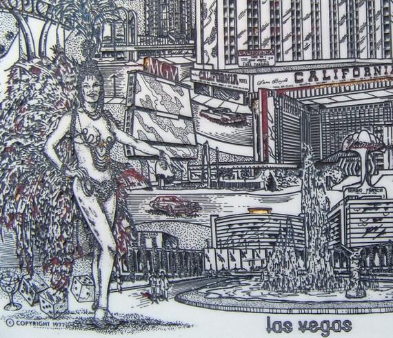 Vintage Las Vegas Marble Engraving