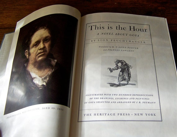 Vintage Book Goya Historical Novel
