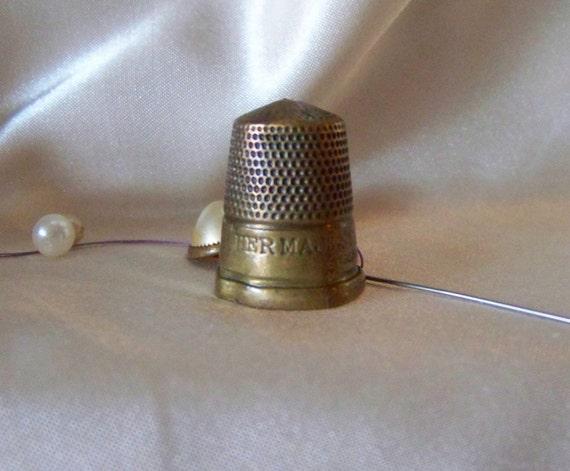 Brass Thimble Her Majesty