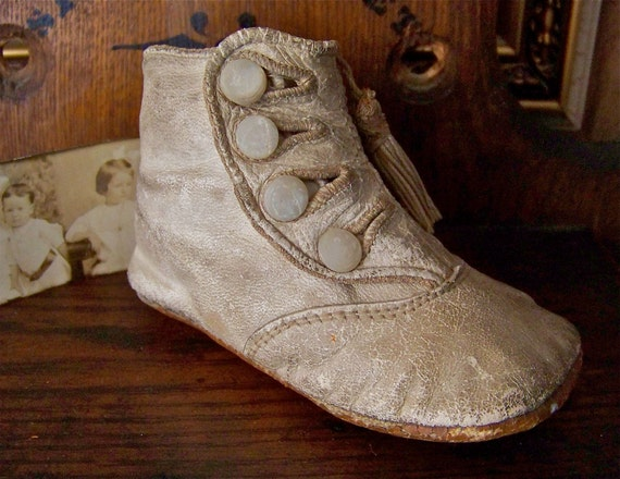 Victorian Leather Baby Shoe  RESERVED