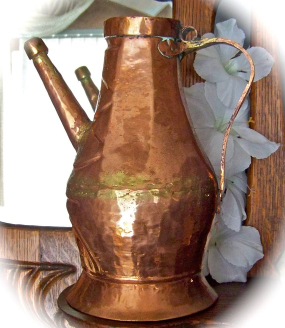 Antique Turkish Copper Water Pitcher