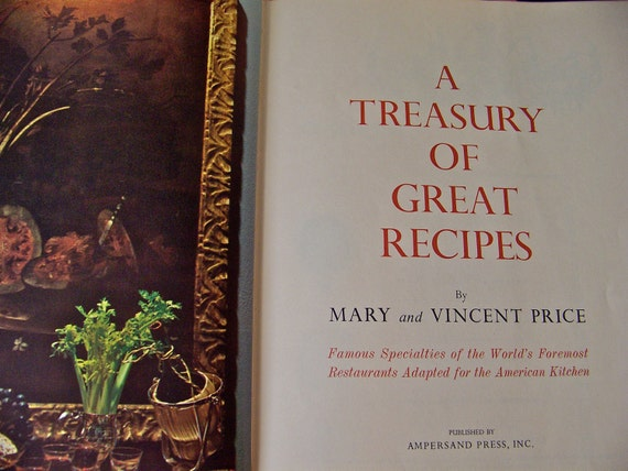Vintage Cookbook Vincent Price1965 First Printing RARE