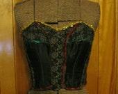 Dress Up Lady Marlene boned Corset top with embellishments size 34 B