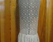 Eber Cream Lace Skirt size Medium