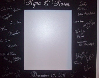Signature Picture Frame Customized Mat - Black