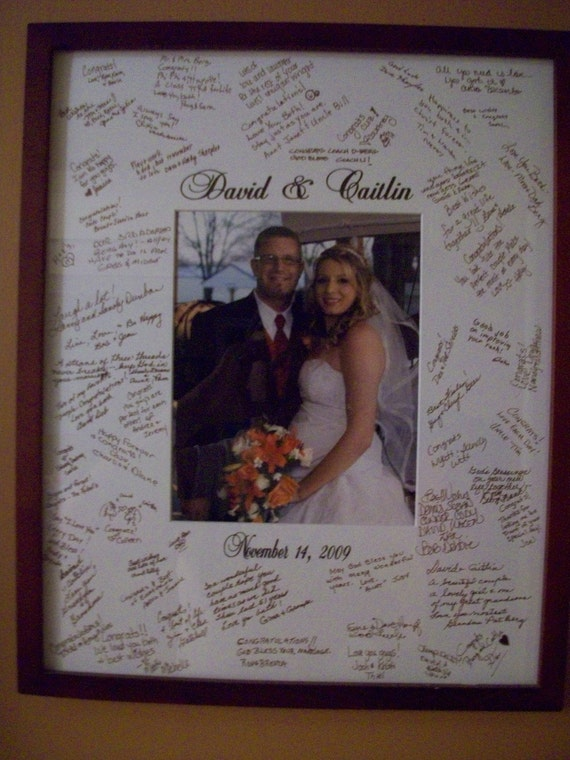 Personalized Wedding Picture Frames Canada : Wedding Guest book AlternativeSignature Picture Frame Customized ...