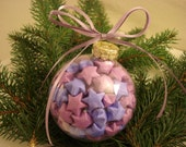 Lucky Stars Christmas Glass Ornament - Shades of Purple