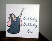 CINDERELLA- Fairy Godmother- Bibbity Bobbity Boo- Party Sign- Self Standing- Great for Gift Table, Food Table, Party Favor Table