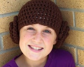 Crochet Princess Leia Hat in Soft 100% Cotton, Any Size, Made to Order