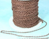 Red Copper  Chain Small Link 3 ft Lead Free and Nickel Free