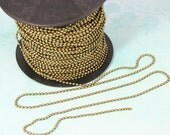 Ball Bead Chains antique bronze Color  Bead: 2mm 3ft