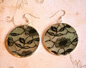 Lace and Mother of Pearl Earrings