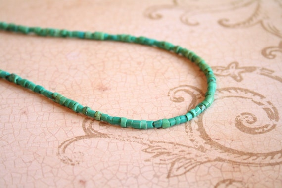 Genuine Turquoise Heishi Necklace