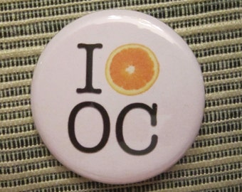 I 'Heart' OC 1.25 inch Pinback Button