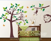 new design decor art vinyl wall stickers decal monkey 4  free send butterfly decal
