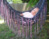 Baby Newborn Hammock with Double sides Fringe for Pros pictures only, XL
