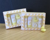 Baby toiletries, dollhouse miniature, little ducks