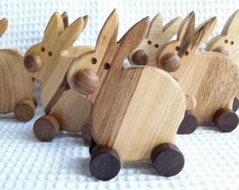 Wooden eco friendly toy - BUNNY