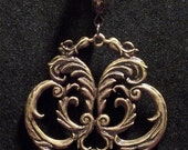 Steampunk/Victorian Abstract Floral Pendant