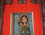 Black Madonna with Child- tote bag- by Flor Larios and Pink Dreamer