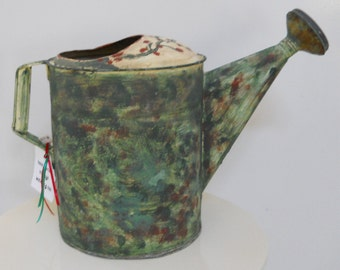Circa 1940 - Hand Painted Watering Can