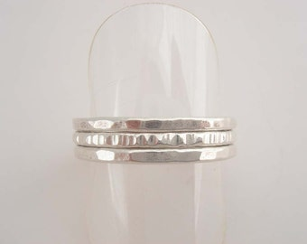Fine Silver Stack Rings