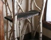 white birch shelves ON SALE