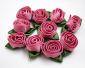 Rosettes - 10 PIeces - Dusty Pink