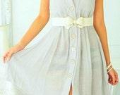Girl Next Door Linen Dress